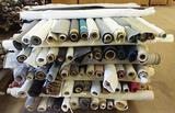 APPROX. 125 PARTIAL ROLLS OF UPHOLSTERY FABRIC