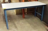 WHITE FORMICA TOPPED WORK BENCH / TABLE