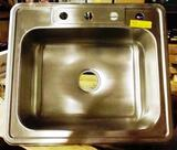 STAINLESS STEEL SINK WITH 4 HOLES AND DRAIN