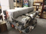 PALLET OF APPROX. 35 MEDIUM TO LARGE PARTIAL ROLLS OF FABRIC