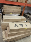 24 BOXES OF NEW TAV WHITE CABINET COMPONENTS