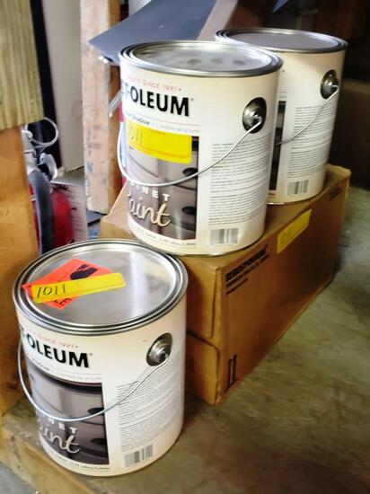 5 x 1 GALLON CANS RUST-OLEUM CABINET PAINT - MOON SHADOW