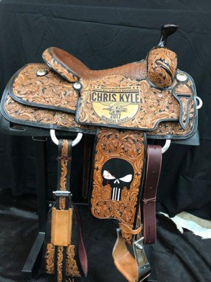 2017 Cowpuncher Chris Kyle Memorial Benefit Saddle
