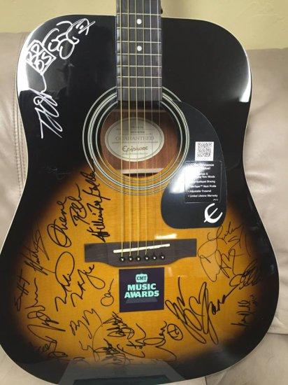 2016 CMT Music Awards Autographed Guitar