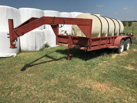 *Gooseneck Utility Trailer w/1200gal Water Tank