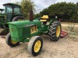 John Deere 301 2wd Tractor w/6' Shredder, 4127hrs