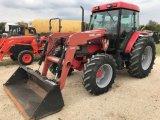 McCormick CX105 4wd Tractor w/BushHog Loader