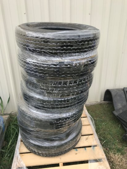 Pallet of 7pc Used 750 R16 Tires