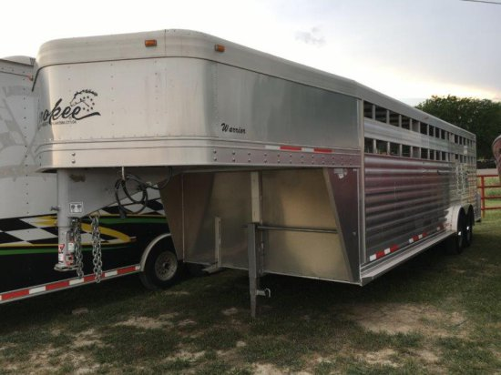 8'x24' Cherokee-Warrion Aluminum Stock Trailer