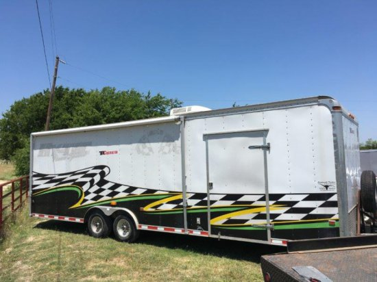 24' Enclosed Racing Trailer
