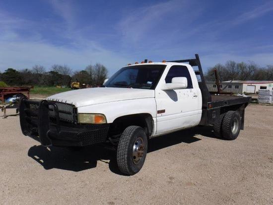 *1995 Dodge 3500 Cummins Flatbed w/Hay Spike