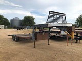 20' Homemade Flatbed Gooseneck Trailer w/Winch