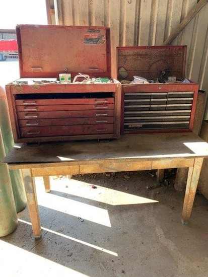 Mac Tool Box & Craftsman Toolbox w/Metal Table