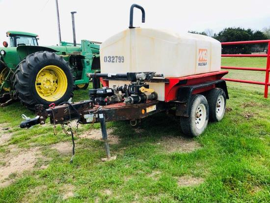 Multiquip 500gal Industrial Moble Water Trailer