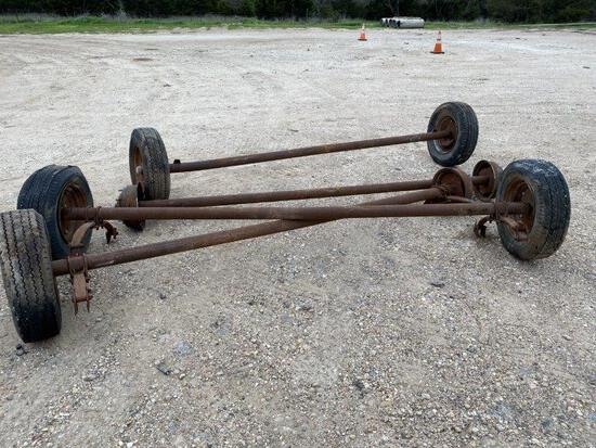4pc Trailer House Axles & Hitch