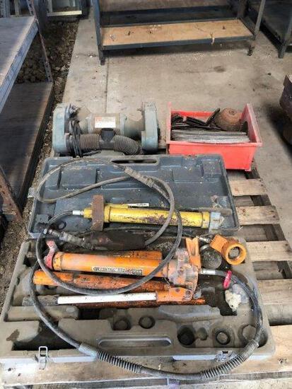"1/8"" Bench Grinder & 10ton Hyd Frame Repair Kit"