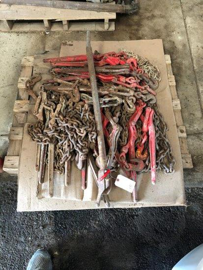 Pallet of Chains & Boomers