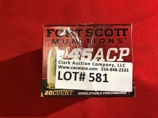 40rds Fort Scott Munition 45acp 180gr