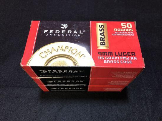 Federal 9mm 115gr FMJ