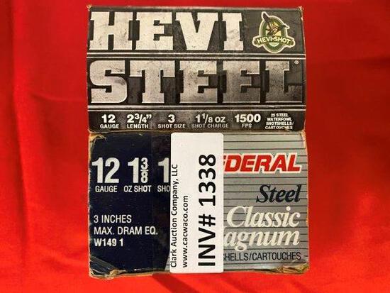 25rrds 12ga Steel Shot Shotgun Shells
