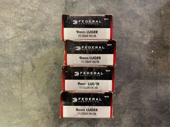 50rds Federal 9mm 115gr