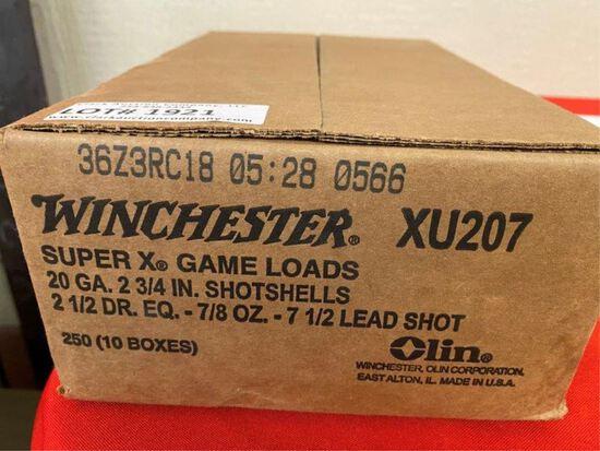 250rds Winchester Super X Game Loads 20ga XU207