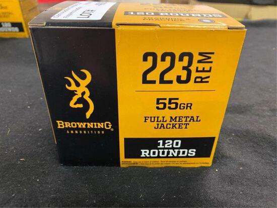 120rds Browning 223rem 55gr FMJ