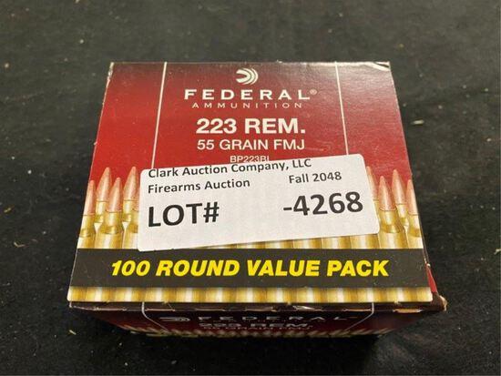 100rds Federal 223rem 55gr FMJ