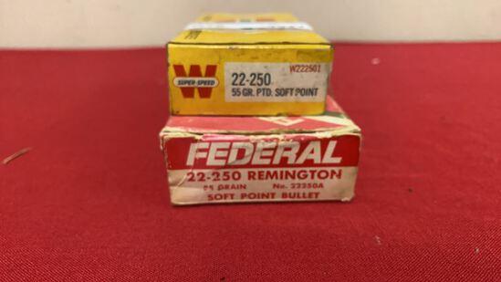 2boxes 22-250 Ammunition