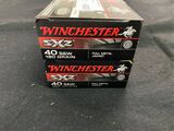 50rds Winchester 40s&w 180gr FMJ