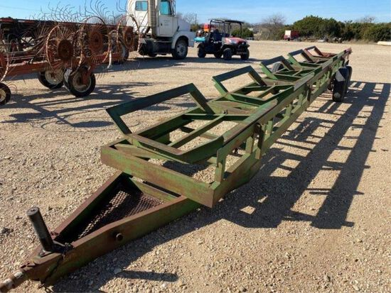 Bumper Pull 5 Bale Hay Trailer