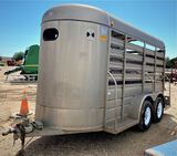 *2001 WW 14' Cattle Trailer 8' enclosed top