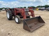 International 485 50HP w/loader & bucket