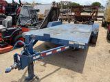 16' Blue Equipment Trailer Steel Floor Tandem Axle