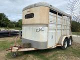 Circle J 12' Mustang Livestock Trailer bumperpull
