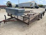 16' Utility Trailer w/Tool Box, Side Boxes, Holder