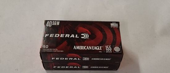 50rds Federal 40S&W 155gr FMJ