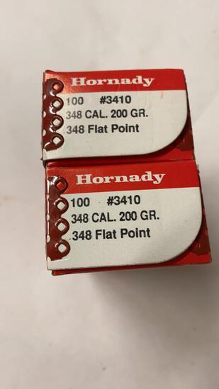 200ct Hornady 348cal 200gr Flat Point Bullets