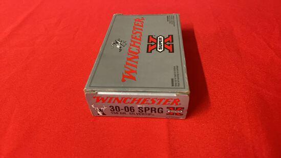 20rds Winchester 30-06 SPRG 150gr Silvertip