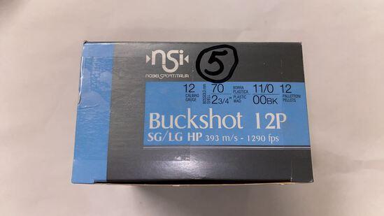 25rds NSI 12ga Buckshot 12P SG/LG HP 00BK