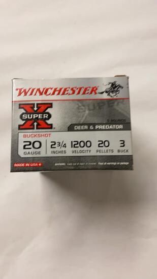 25rds Winchester SuperX 20ga Buckshot 20P 3 Buck
