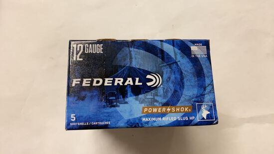 25rds Federal Power-Shok 12ga Max Rifled Slug HP