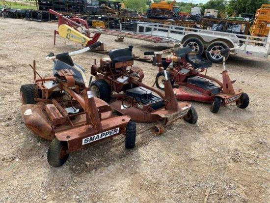 3pc Snapper Riding Mowers  non-running