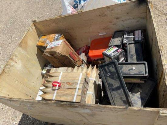 Crate of Asst Nails & Hardware