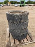 4pc Skid Steer Tires