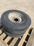 2-Synergy 235/75R17.5 wheels & tires