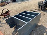 2pc metal shelves