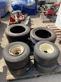 4 Golf Cart Tires & 4 new Goodrich 195/60/15