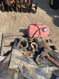 Pallet w/air tank, 3 clevis, hitch & tire tubes