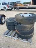 6pc Dually Trailer Tires & Rims  205/40ZR17